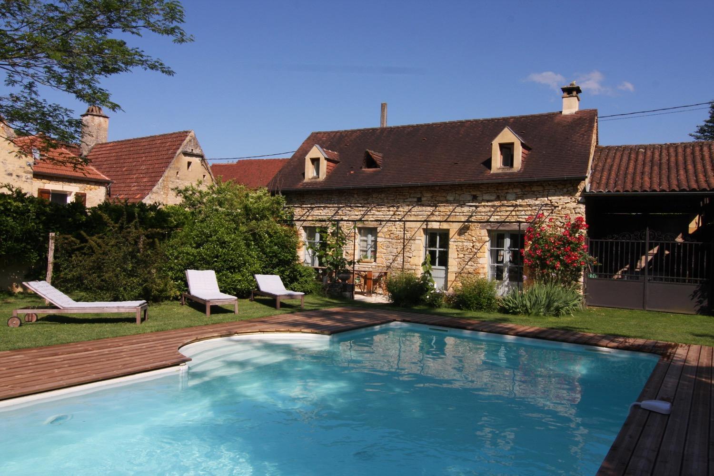 Maison de charme avec piscine chauffée proche SARLAT